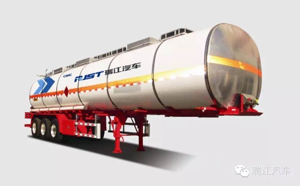 CIMC Ruijiang Aluminum Alloy Insulated Liquid Tank Semi-trailer