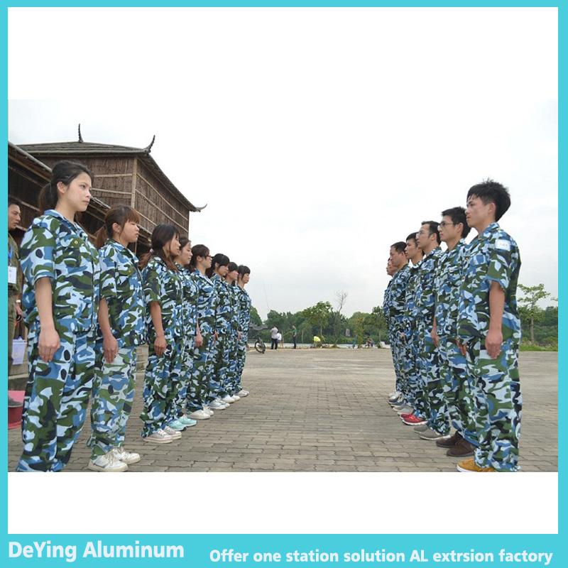 DeYing Aluminum Team in Military training