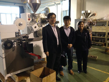 Korea customer visited our company in Sep.