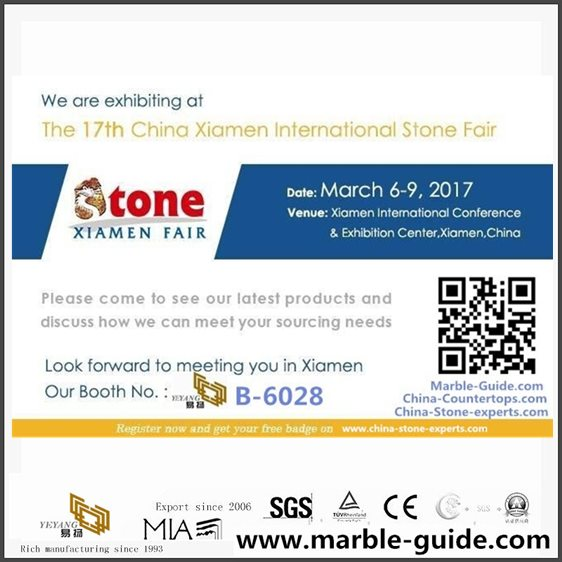 China Xiamen International Stone Fair March 6-9,2017, YEYANG Booth No.:B-6028