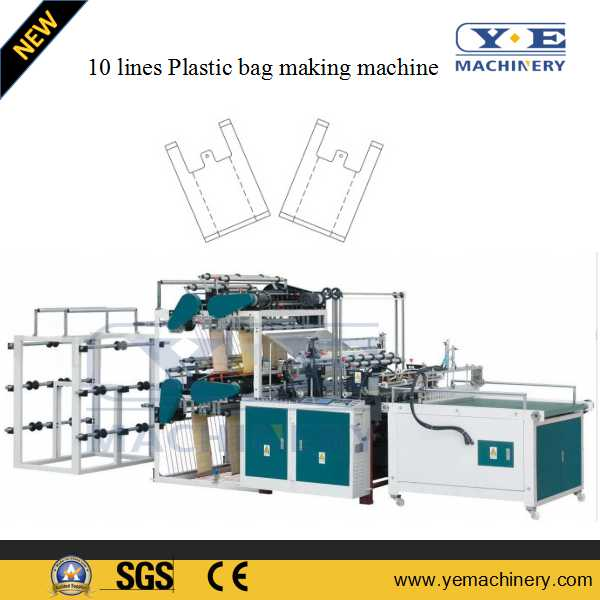 10 lines plastic shopping bag making machine