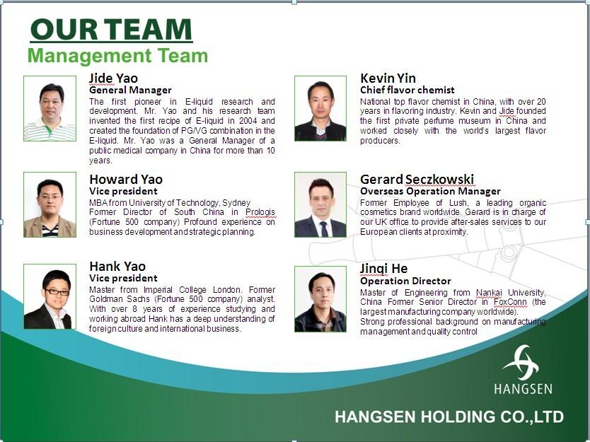 Hangsen's Management Team