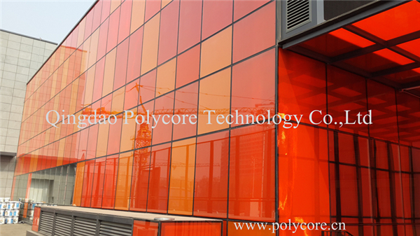 red and orange honeycomb panel