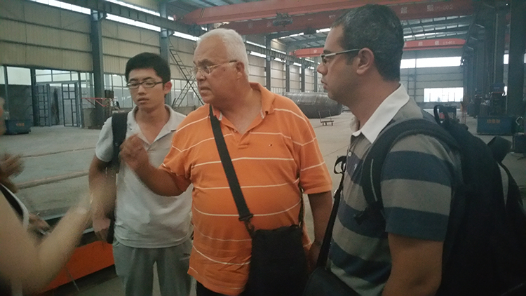 Clients from Libya visited our factory
