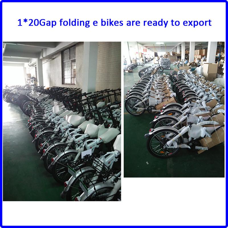 1*20gap folding e bike is ready to ship