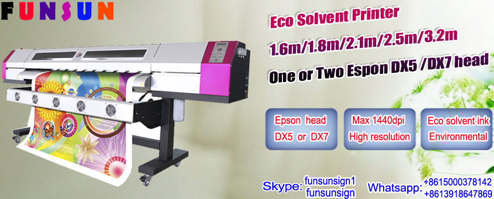 1.6m-3.2m galaxy eco solvent printer with Epson DX5 head 1440dpi