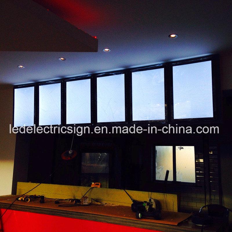 led acrylic frame slim light box with crystal led light box in United Kingdom