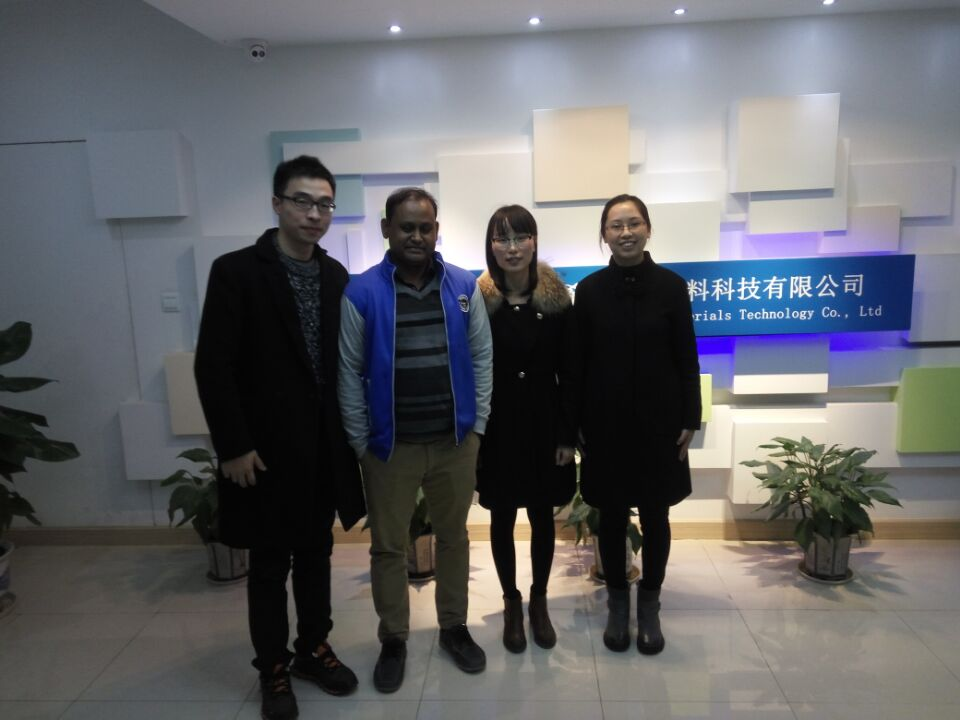 Welcome Bangladesh client to visit our non-woven products factory