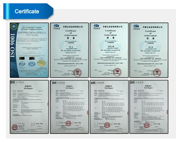 ALL PRODUCT TEST CERTIFICATE