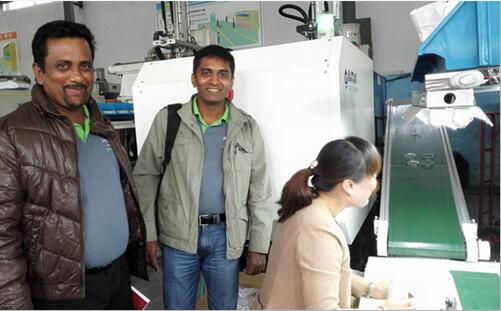 plastic bottle mould customer from Srilanka