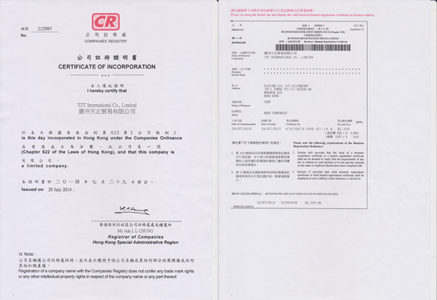 Business Licence and Firm Register (HK)