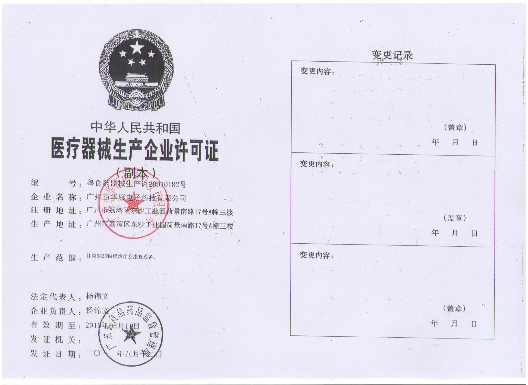 permission certificate