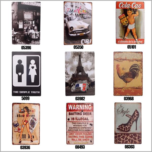 2016 Hot Sale 20X30cm Vintage Christmas Tin Sign