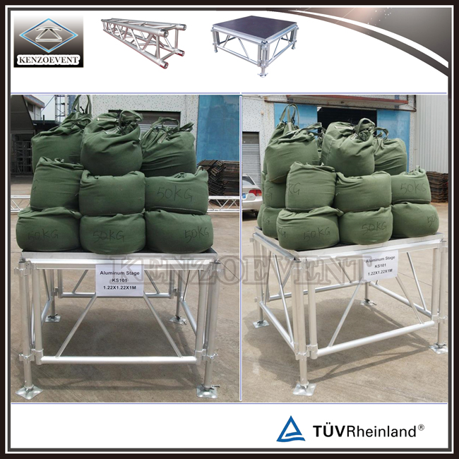 Load Test of Aluminum Porstable Stage