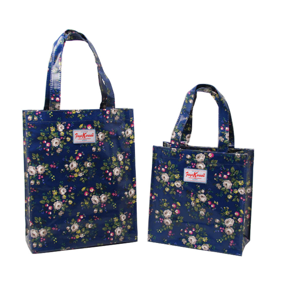 Waterproof PVC Canvas Two Sizes Shopping Bag