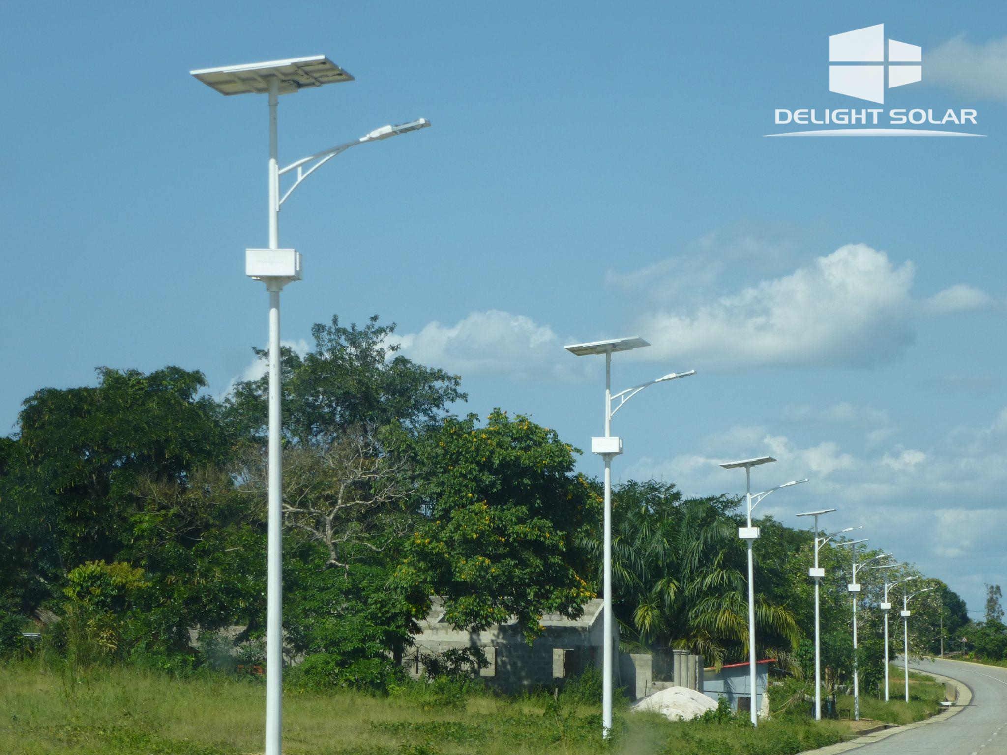 8M 60W SOLAR STREET LIGHT - CONGO, JULY, 2014