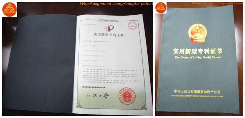 Wheel Alignment Patent Certificate