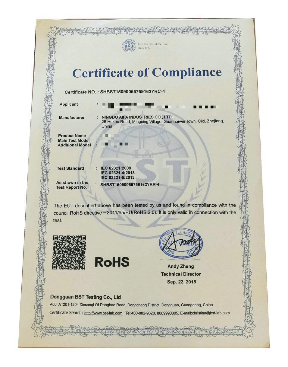 Aifa Industries' RoHS