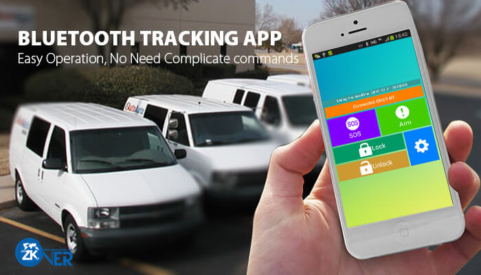 Bluetooth GPS tracking solution with Bluetooth apps
