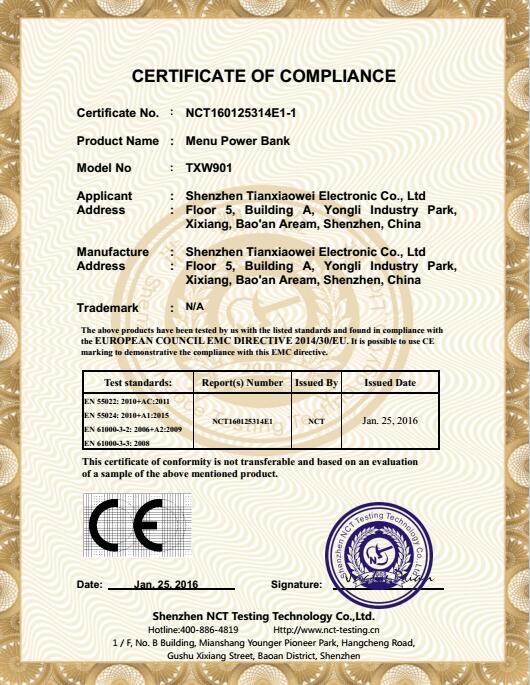 TXW901-CE