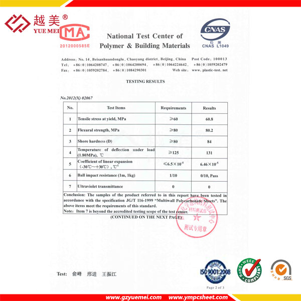 National Test Ceter of Polymer&Building Materials 2