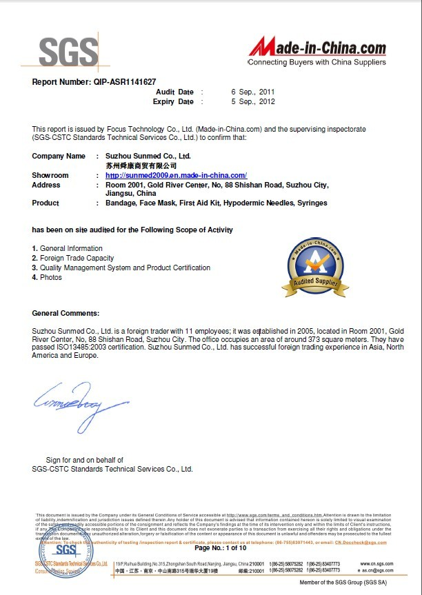 SGS Audit Report-1