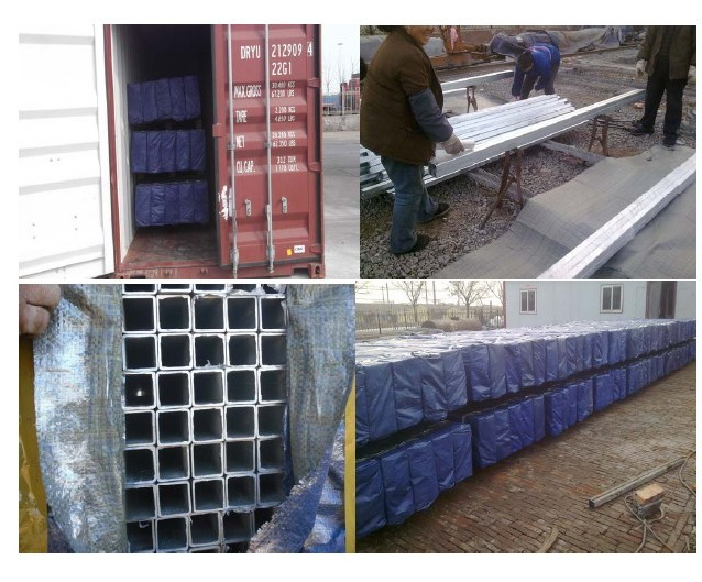 Square Steel Pipe Container Loading