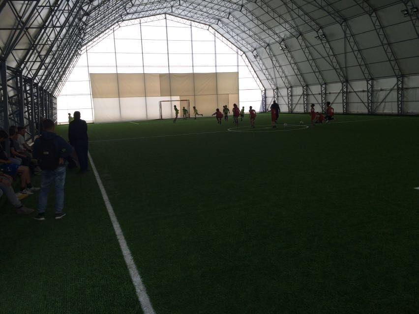2016-05-18, 2400m2 unfilled Soccer grass indoor field in Kosovo