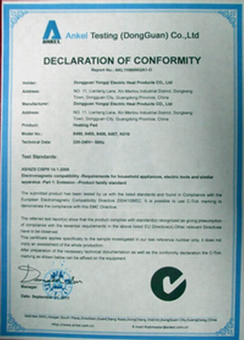 C-tick Certificate
