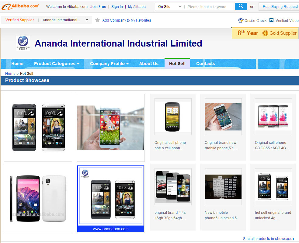 We are Alibaba's 8 years' Gold supplier,We offer original brand mobile phone!