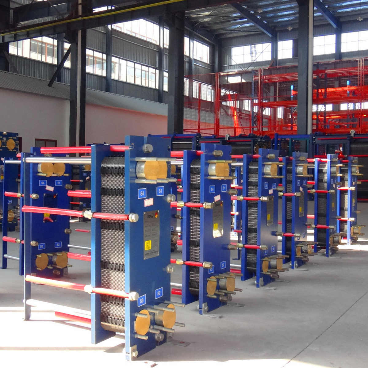 China Heat Transfer Waste Heat Recovery Plate and Frame Heat Exchanger