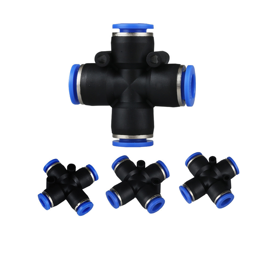 Quick connector cross type pneumatic connectors
