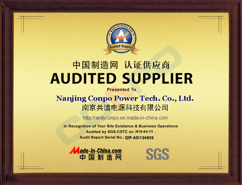 AUDITED SUPPLIER by SGS-CSTC