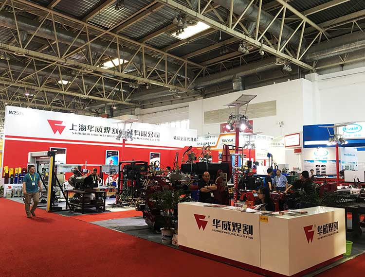 The brand new Huawei welding and cutting machine display at 2016 Beijing Essen Show