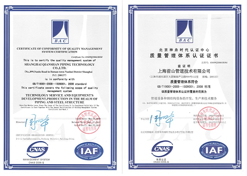 I.S.O Certificate