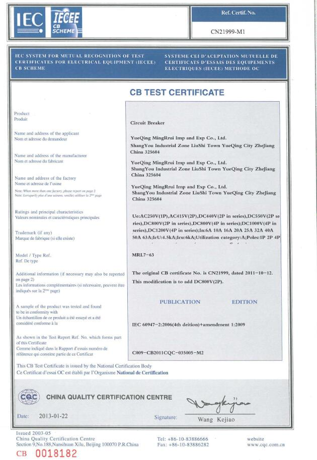 MCB IEC