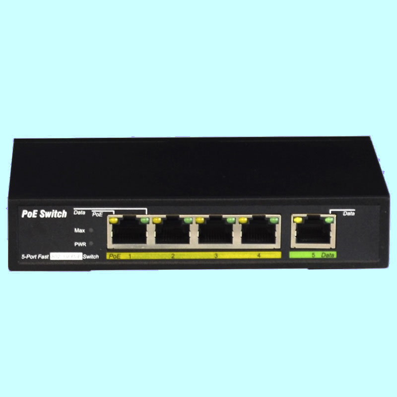 5 port 100Mbps POE switch with 4 POE ports