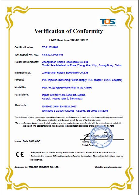 24W CE/EMC certification