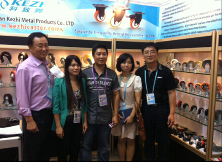 with our Korea Friend in Canton Fair