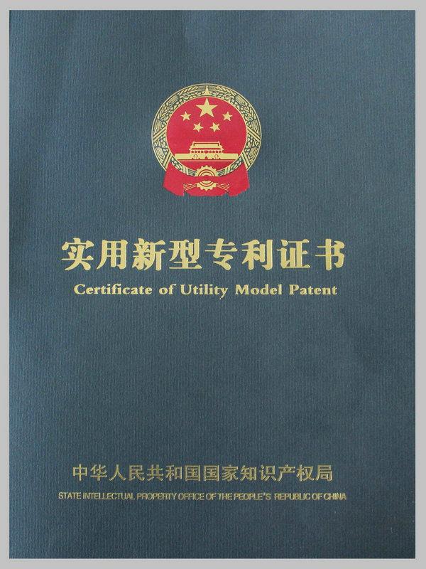 Certificate of Utility Model Paten