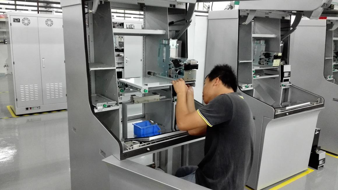 Kiosk factory assembling