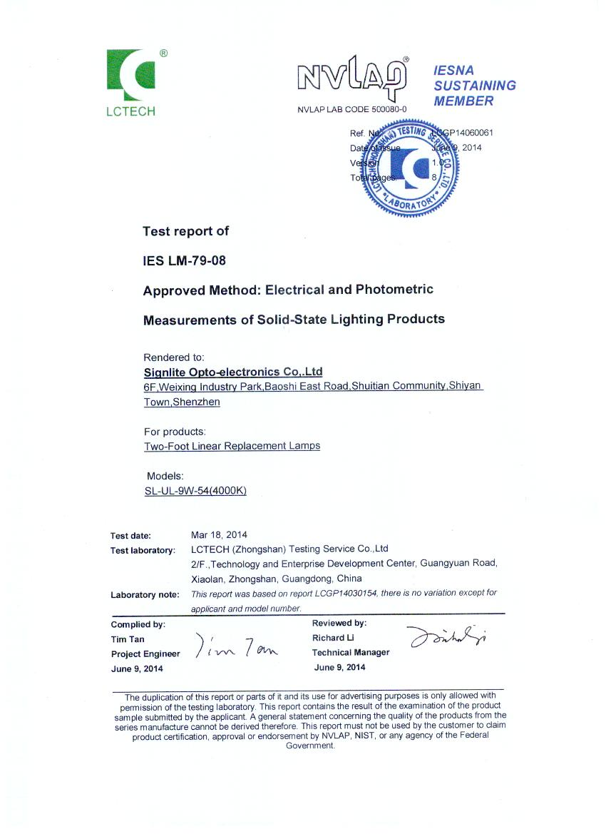 DLC Certification for Two-Foot Linear Replacement Lamps