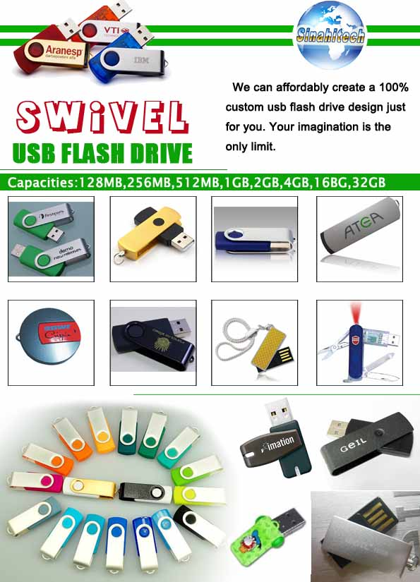Products Catalogue-Swivel USB Flash Drives
