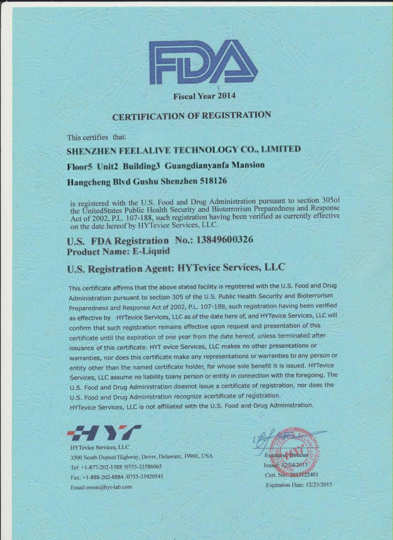 FDA Registeration
