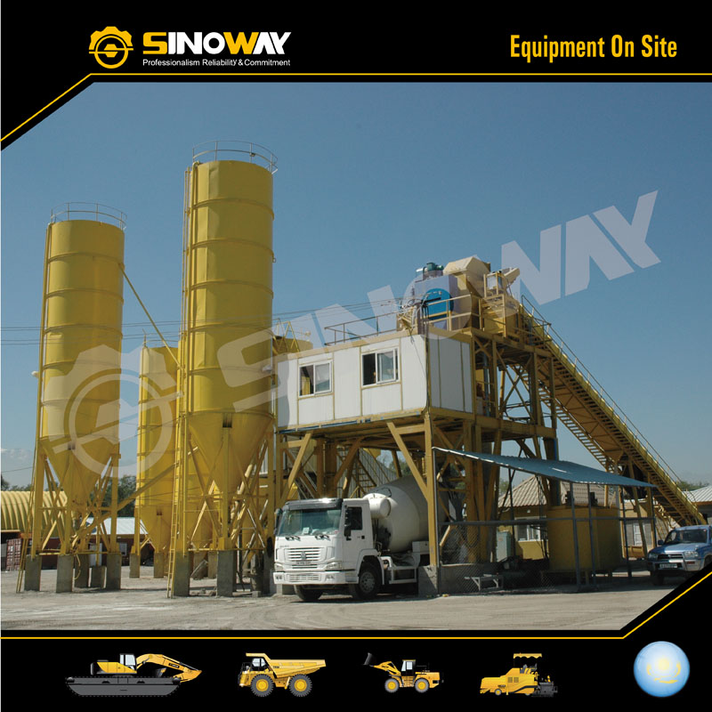 Sinoway Concrete Bathing Plant in Middle Asia