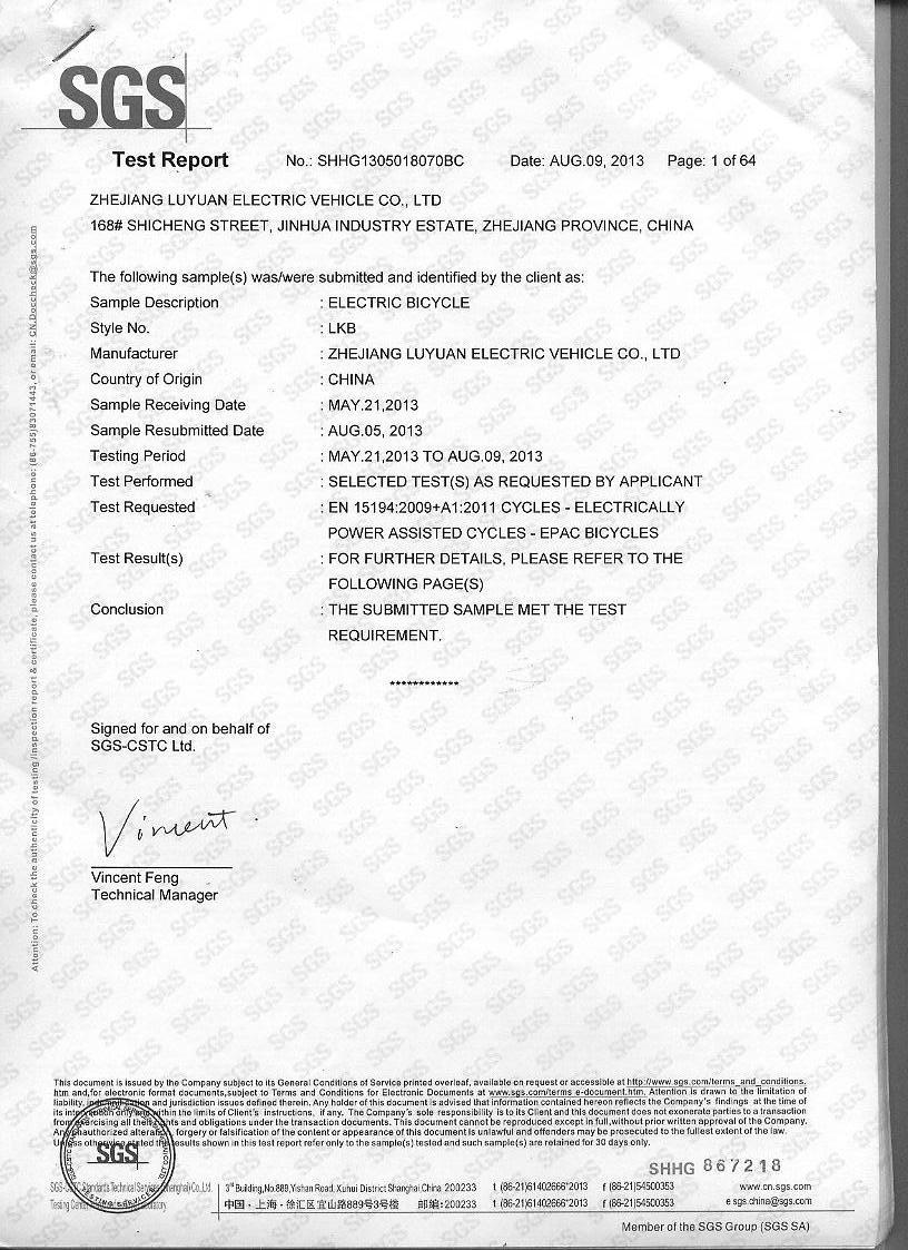 EN15194 Certification