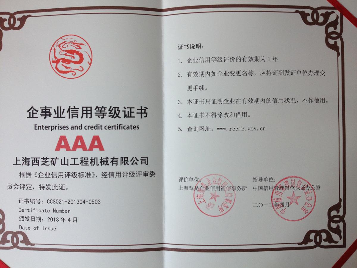Credit certificate