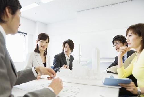 Sales team members work harmoniously