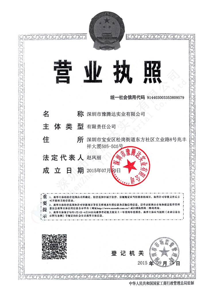 The certificates of business licence