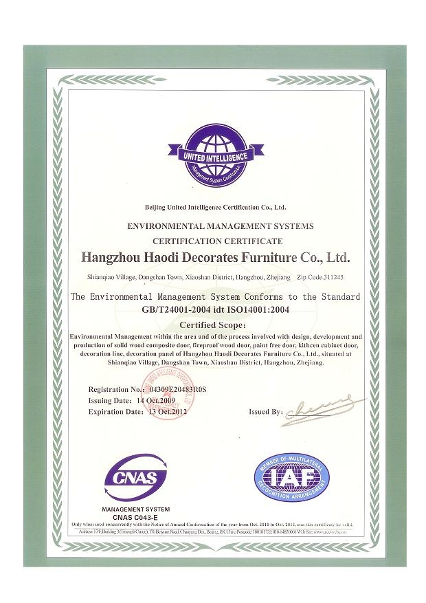 Enviromental Certificate